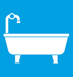 bathtub icon white vector image