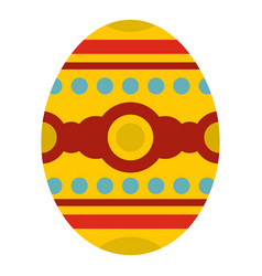 Beautiful easter egg icon isolated vector