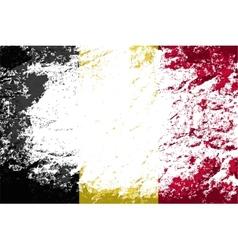 Belgian flag Grunge background vector image
