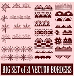 Big set of borders vector image vector image