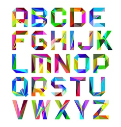 Bright alphabet letters vector image