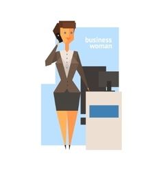 Business woman abstract figure vector