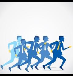 businessmen run concept b vector image