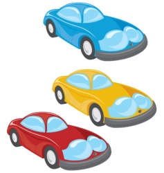 cartoon style cars vector image vector image