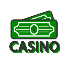 Casino poker winner dollars template icon vector