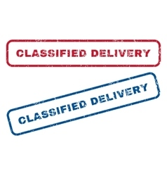 Classified delivery rubber stamps vector