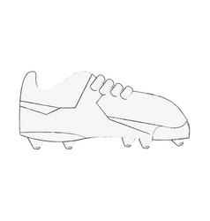 Cleats football soccer shoe icon image vector