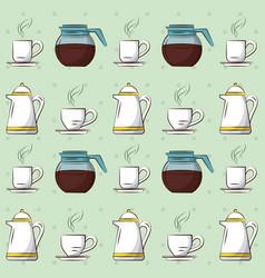 delicious coffee drink icons vector image