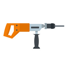 electric drill perforator icon isolated vector image