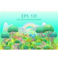 Fairytale forest vector