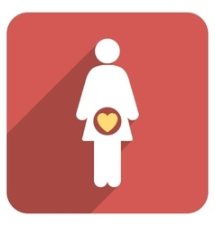 Fertility flat rounded square icon with long vector