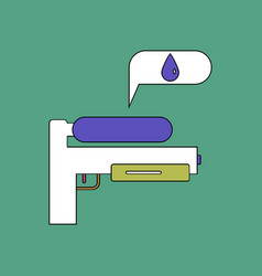 Flat icon design collection water gun vector