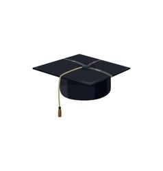 Graduation cap icon cartoon style vector image