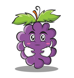 Hugging grape character cartoon collection vector