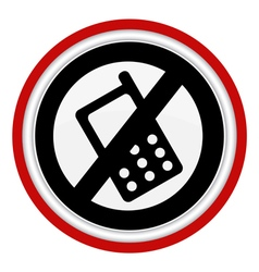 No sound icon phone vector