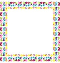 Paw print frame vector image vector image