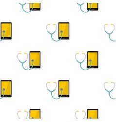 Phone diagnosis pattern seamless vector