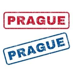 Prague rubber stamps vector