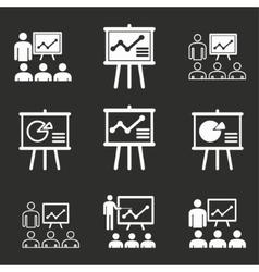Presentation icon set vector image