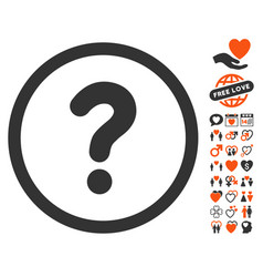 Question icon with love bonus vector