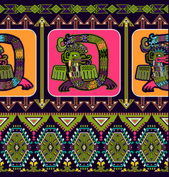 Seamless aztec pattern mexican ornamental vector