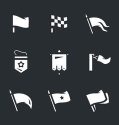 Set of various flags icons vector