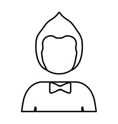 silhouette half body man with hairstyle vector image vector image