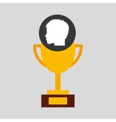Silhouette head boy student award win vector