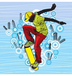 Skateboarding vector image vector image