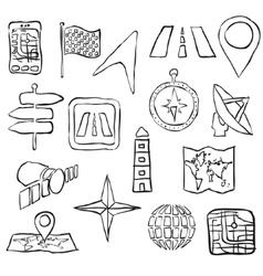 Sketch navigation images vector