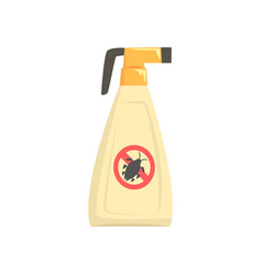 sprayer bottle of insecticide extermination of vector image vector image