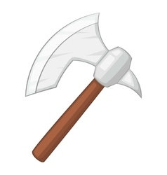 Viking axe icon cartoon style vector