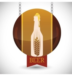 Premium quality craft brew beer vector