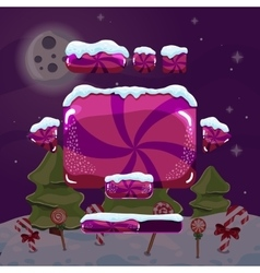 Sweet winter user interface game vector