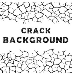 Cracks background with text vector