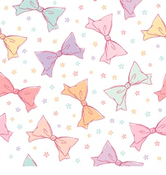 Cute bows seamless pattern vector