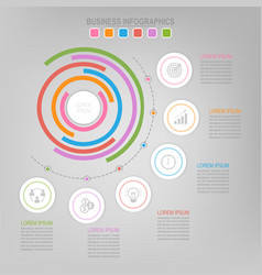 Infographic of circle element flat design vector