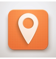 Map marker pin icon vector