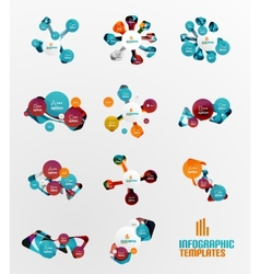 Set of abstract step infographics vector