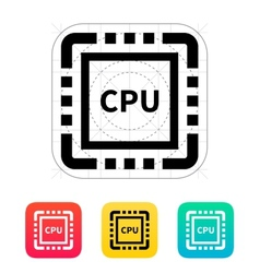 Cpu icon vector