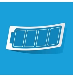 Full battery sticker vector