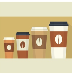 Disposable coffee cup vector