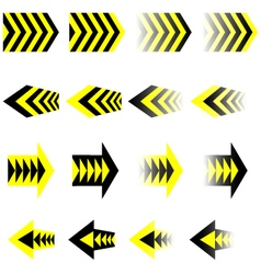 Black yellow arrows eps10 vector