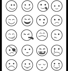 Icons set 20 characters vector