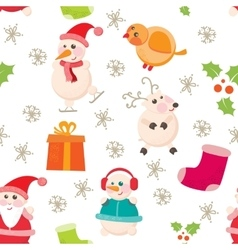 Cheerful beautiful festive seamless pattern vector