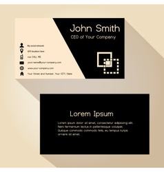 Simple black and brown business card design vector