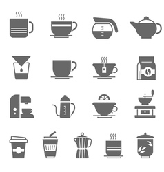 Icon set - coffee and tea vector
