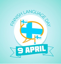 9 April Finnish Language Day vector image vector image