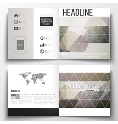 Set of square design brochure template microchip vector