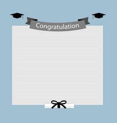Congratulation graduation banner vector